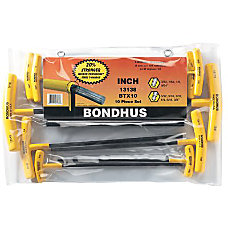Bondhus 10 Piece T Handle Ball