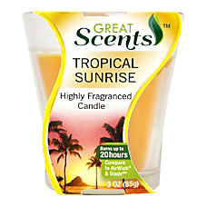 PowerHouse Scented Candle Tropical Sunrise