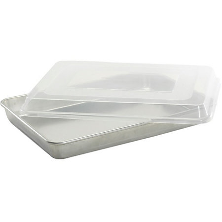Nordic Ware High Sided Sheet Cake Baking Pan With Lid