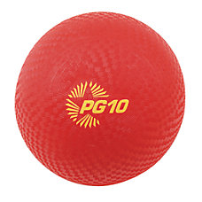 Champion Sports Playground Ball 10 Red
