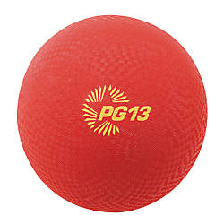 Champion Sports Playground Ball 13 Red