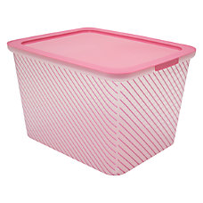 Advantus Fashion IML Plastic Storage Box
