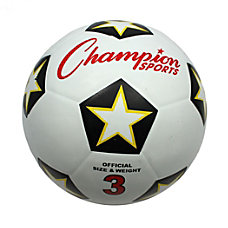 Champion Sports Rubber Soccer Ball No