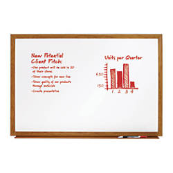 FORAY Melamine Dry Erase Board Oak
