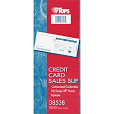 TOPS Credit Card Sales Slip 3