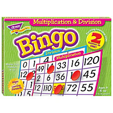 Trend Enterprise Multiplication Division Bingo Games