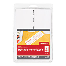 Office Depot Brand Postage Meter Labels