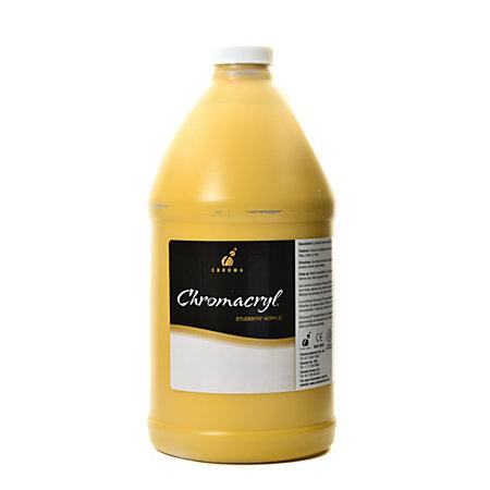 Chroma chromacryl students acrylic paint 0 5 gallon yellow for Chroma acrylic mural paint review