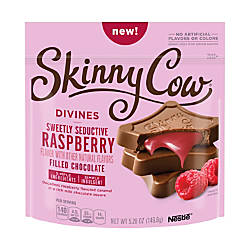 Skinny Cow Divines Chocolates Raspberry Filled