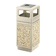 Safco PlasticStone Aggregate Receptacle 15 Gallons
