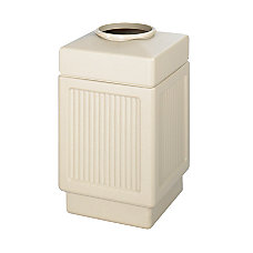Safco IndoorOutdoor Waste Receptacle 38 Gallons