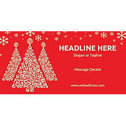 Custom Horizontal Banner Red Christmas