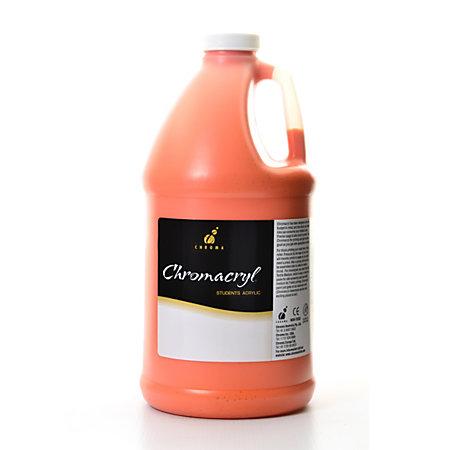 Chroma chromacryl students acrylic paint 0 5 gallon orange for Chroma acrylic mural paint