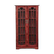 SEI Window Pane Media Cabinet 47