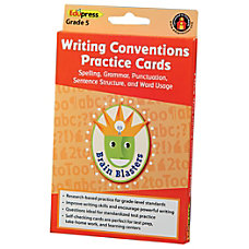 Edupress Brain Blasters Writing Conventions Practice