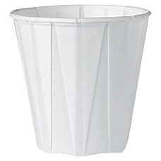 Solo Pleated Paper Cups White Box