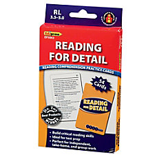 Edupress Reading Comprehension Practice Cards Reading