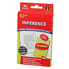 Edupress Reading Comprehension Practice Cards Inference