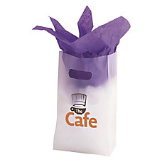 Frosted Die Cut Tote 7 x