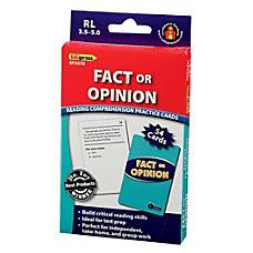 Edupress Reading Comprehension Practice Cards Fact