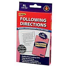 Edupress Reading Comprehension Practice Cards Following