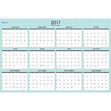 Blue Sky Wall Planner Picadilly Laminated
