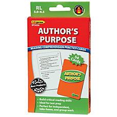 Edupress Reading Comprehension Practice Cards Authors