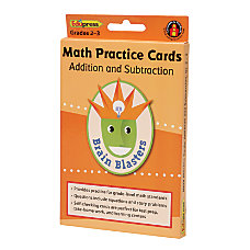 Edupress Brain Blasters Math Practice Cards