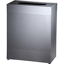 United Receptacle 30percent Recycled Metallic Rectangle