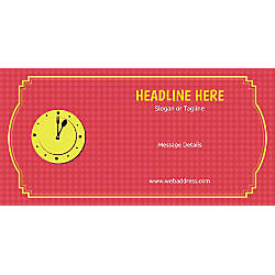 Custom Horizontal Banner Lunch Clock