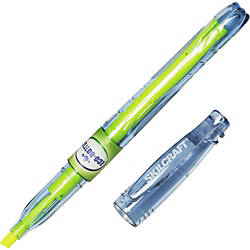 SKILCRAFT Yellow Fluorescent Recycled Highliter Fine