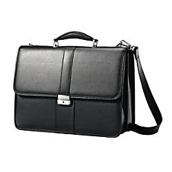 Samsonite Leather Flapover Briefcase For 156