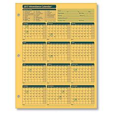 ComplyRight Attendance Calendar Cards 8 12