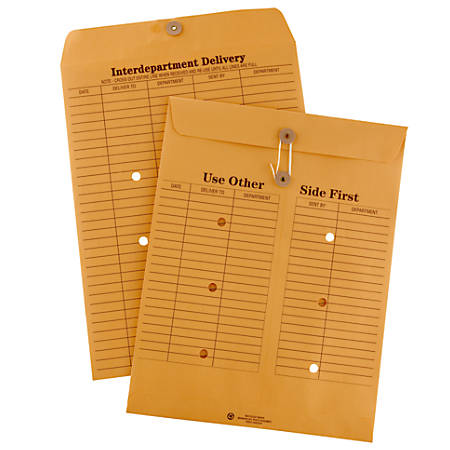 Office depot brand interdepartment envelopes 10 x 13 brown for Interoffice mail envelope template