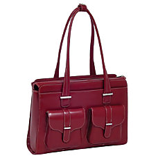 McKleinUSA Alexis Leather Ladies Briefcase Red