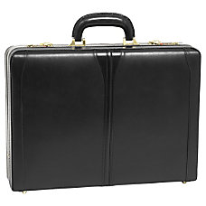 McKleinUSA Turner Leather Attache Case Black