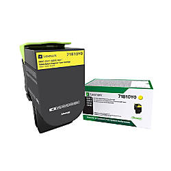 Lexmark 71B10Y0 Return Program Yellow Toner