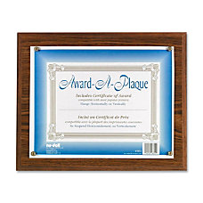 Nu Dell Woodgrain Award A Plaque