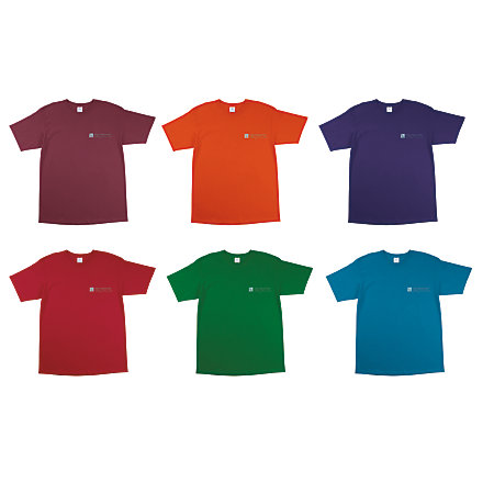 100percent Cotton T Shirt Color By Office Depot Officemax