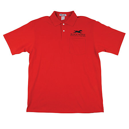 Jerzee embroidered 5050 polo shirt by office depot officemax for Office depot shirt printing