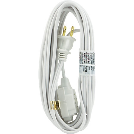 ge polarized extension cord 15 white by office depot officemax. Black Bedroom Furniture Sets. Home Design Ideas