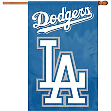 Party Animal Dodgers Applique Banner Flag