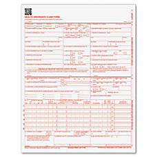 Adams Medical Claim Forms Pack Of