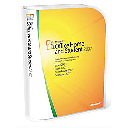 microsoft office home and student 2007 traditional disc by