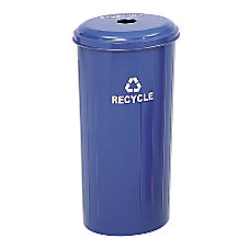 Safco Round Recycling Receptacle With Lid