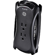 GE 3 Outlet2 USB Surge Protector