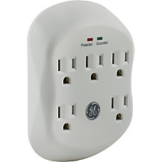 GE 5 Outlet In Wall Surge