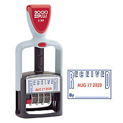 2000Plus Two Color Self Inking Message