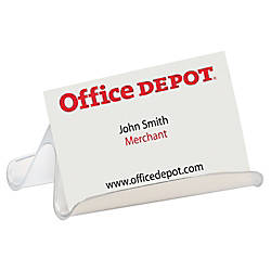 Office depot brand business card holder clear by office for Office depot business card printing