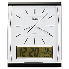 Tatco LCD Inset Rectangular Wall Clock